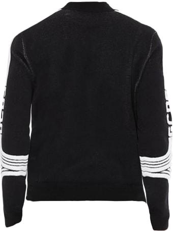 GCDS Black Wool Blend Sweatshirt