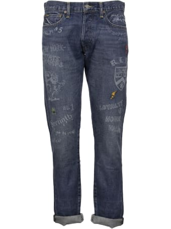 Ralph Lauren Denim Jeans With Lettering And Patches