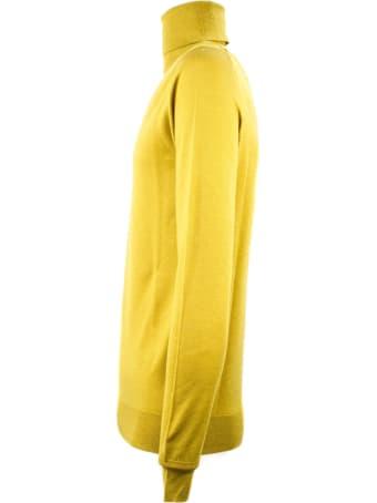 Hosio Ocher Virgin Wool Sweater