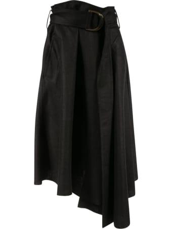 J.W. Anderson Asymmetric D-ring Midi Skirt