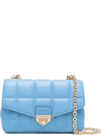 MICHAEL Michael Kors Soho Crossbody Bag In Light Blue Leather