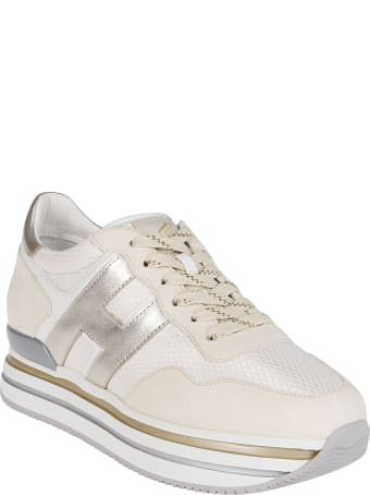 Hogan White Leather H222 Sneakers