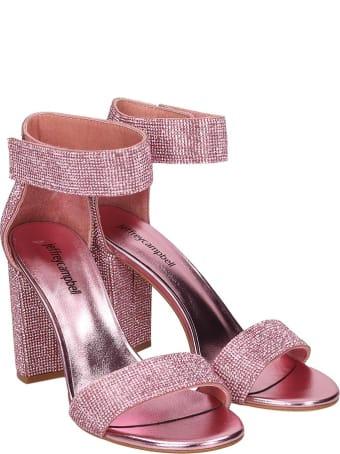 Jeffrey Campbell Lindsay Sandals In Rose-pink Leather