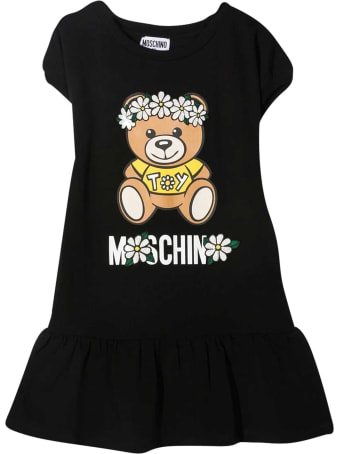 Moschino Black Teen Dress With Toy Print
