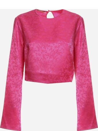 Andamane Ginza Top In Floral Jacquard
