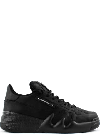 Giuseppe Zanotti Talon Black Leather Sneakers