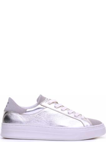 Crime london Crime London Silver Leather Sneaker