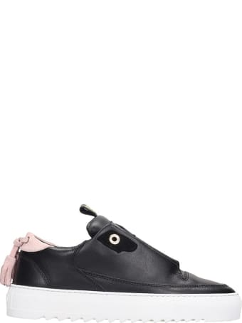 Mason Garments Milano Sneakers In Black Leather