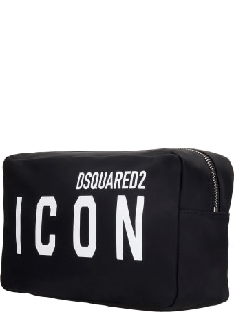 Dsquared2 Beauty Case In Black Nylon