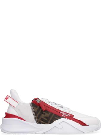 Fendi Fendi Flow Leather Low-top Sneakers