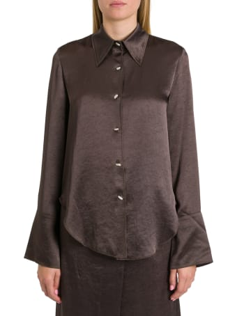 Nanushka Mandine Shirt In Washed Satin