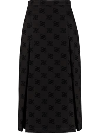 Fendi Printed Denim Skirt