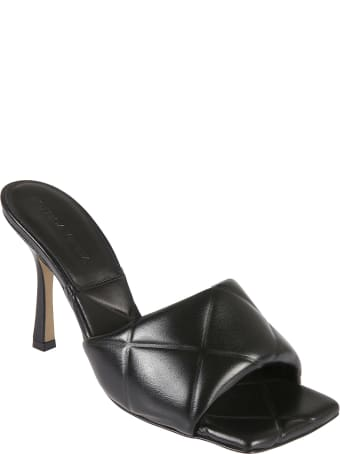 Bottega Veneta Quilted Embossed Lagoon Sandals