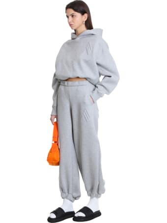 The Attico Pants In Grey Jersey