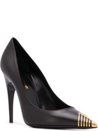 Saint Laurent Black Leather Pumps