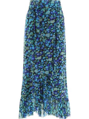 Ganni Floral Printed Skirt