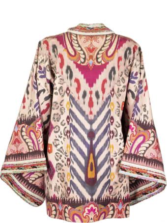 Etro Kimono Jacket With Paisley Print With Animal Design