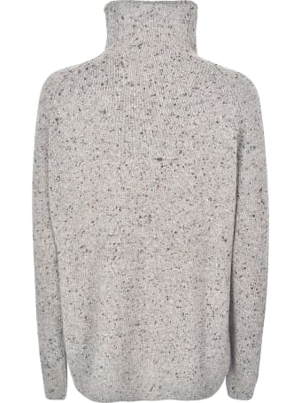 A Punto B High-neck Woven Sweater
