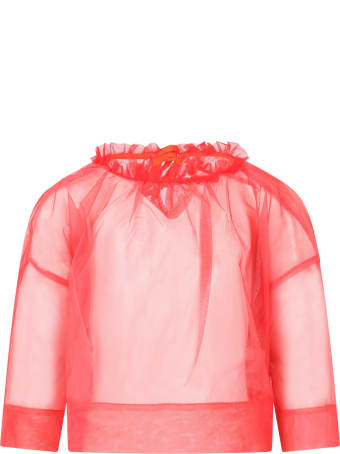 Tia Cibani Red Blouse For Girl