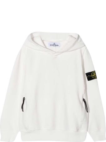 Stone Island Junior White Sweatshirt