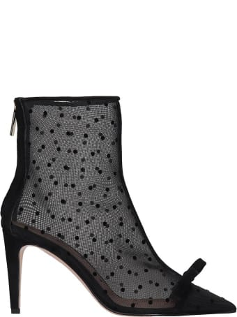 RED Valentino High Heels Ankle Boots In Black Tech/synthetic