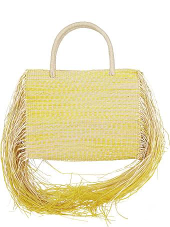Sensi Studio Yellow Straw Bag