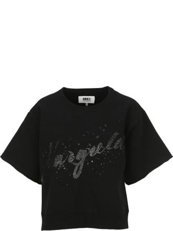MM6 Maison Margiela Mm6 Glittered Logo Sweatshirt