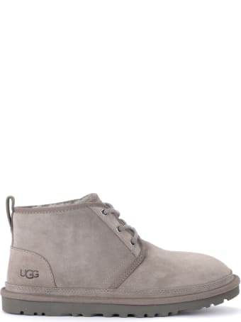 UGG Neumel Boot In Gray Suede With Lacing