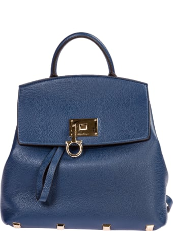 Salvatore Ferragamo  Leather Rucksack Backpack Travel Studio