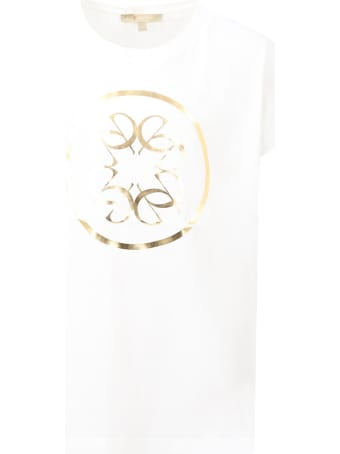 Elie Saab White T-shirt For Girl With Logo