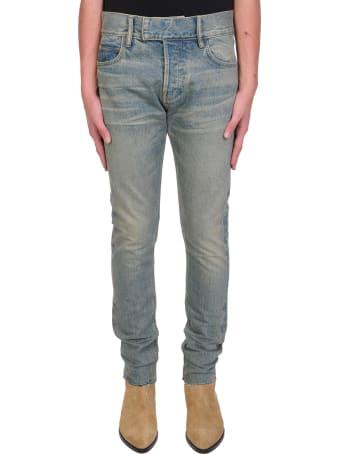 FEAROFGODZEGNA Jeans In Beige Denim