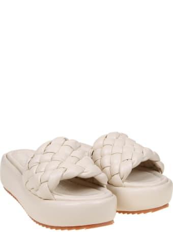 181 Alberto Gozzi 181 Sandal In White Nappa