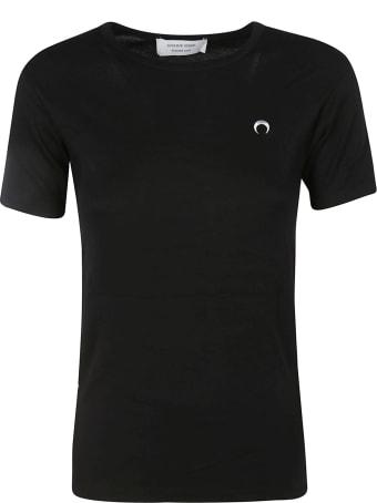 Marine Serre Slim Fit Chest Logo Embroidered T-shirt