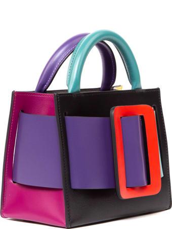 BOYY Bobby 18 Color Block Leather Handbag
