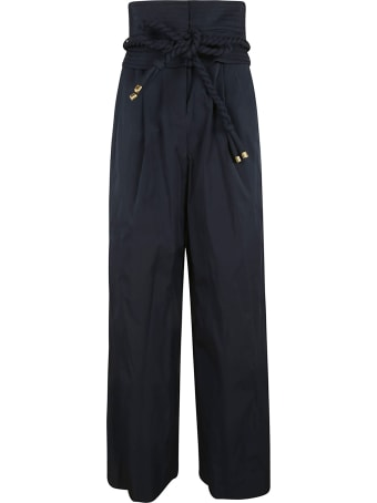 Tory Burch Rope Belted High-waist Trousers