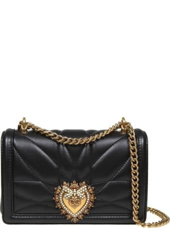 Dolce & Gabbana Mini Devotion Bag In Matelassé Nappa Color Black