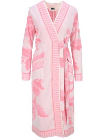 MM6 Maison Margiela Mm6 Leaf Print Tie-waist Robe