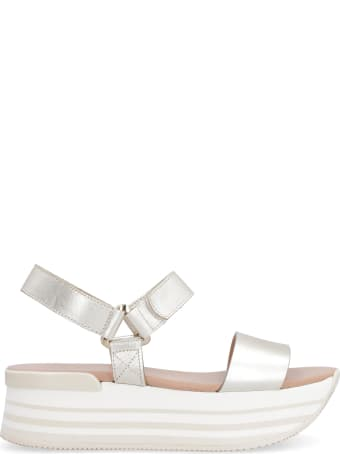 Hogan Leather Platform Sandals