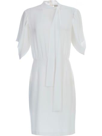 Be Blumarine Dress L/s W/scarf On Neck