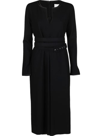 Jil Sander Black Wool Dress