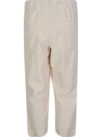 Labo.Art Straight Leg Cropped Ribbed Trousers