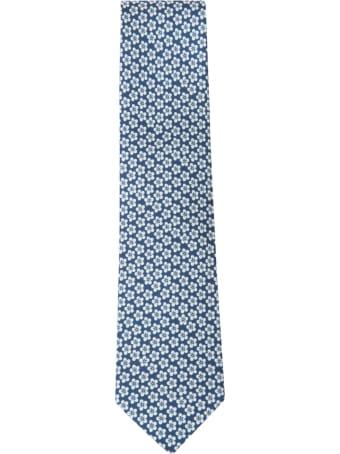 Eddy Monetti Floral Motif Print Neck Tie