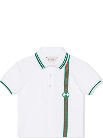 Gucci White Stretch-cotton Polo Shirt