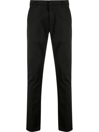 Dondup Black Cotton Chino Pants