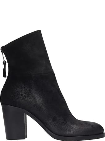 Strategia Ankle Boots In Black Suede