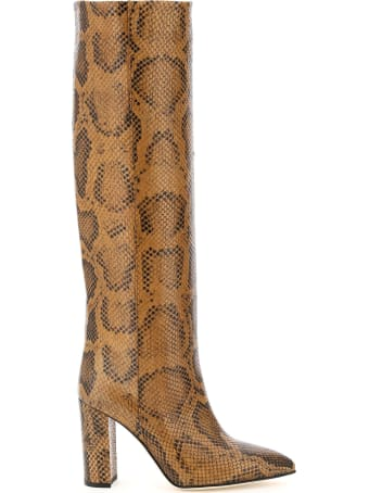 Paris Texas Python-print Boots