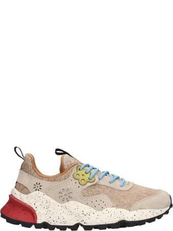 Flower Mountain Kotetsu Sneakers In Beige Tech/synthetic