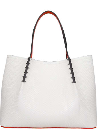 Christian Louboutin Cabarock Tote In White Leather