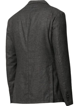 Tagliatore Dark Grey Cashmere Blend Blazer