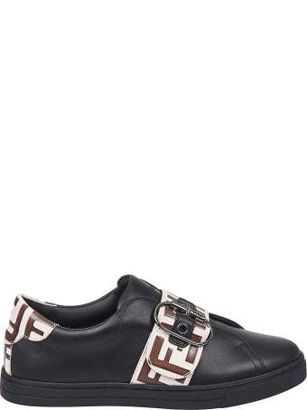 Fendi Buckled Sneakers